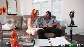 Redhead gets home schooled by horny teacher