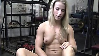 Claire's Creamy Pussy in the Gym