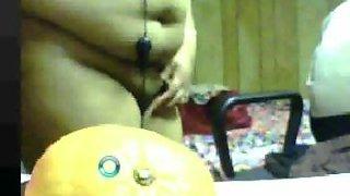 Indian horny aunty exposing and masturbating