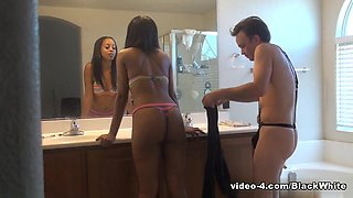 BlackGirlsWhiteSlaves: Pre Shower Ass Cleaning