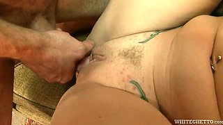 Gang bang wilderness with one chubby MILF and three hunky dudes