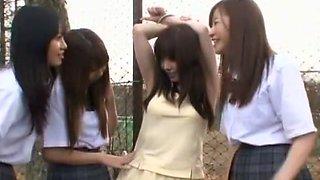 Crazy Japanese chick Saki Hatsumi, Hitomi Kitagawa in Hottest Outdoor, College/Gakuseifuku JAV video