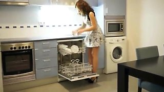 Anal Creampie in the Kitchen