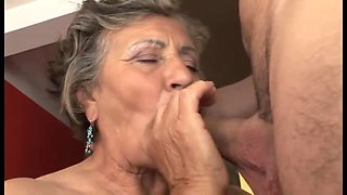 Silver Haired Grandmama Seduces Boy