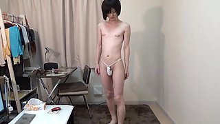 crossdresser almost naked
