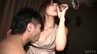 Brunette Harumi Tachibana gets her tight cunt pounded in missionary pose