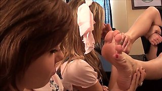schoolgirls wicked punished with a smell of female feet