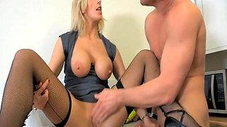 Russian slut work in own home