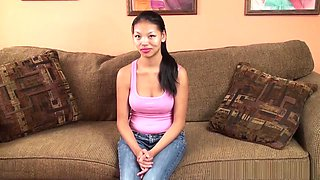 Skinny Filipina loves touching herself