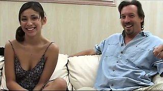Karina, a self proclaimed nympho, had never had two guys.