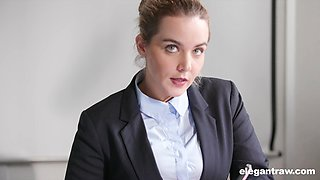 Eloa Lombard gets her pussy filled with a stranger's penis in the office