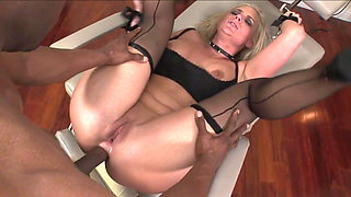 BBC Pounds Blonde's ass And Dumps Cum On Her Toes