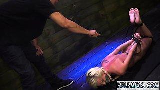 Two girls tied back to bondage and midget extreme deep throa