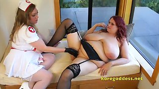 Red head patient fisted by nurse