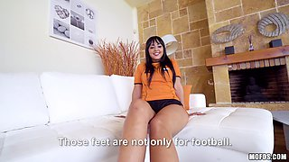 Alba is a thick teen who loves a good thick cock in her pussy and mouth