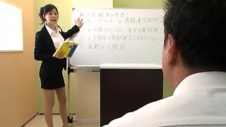 Amazing Japanese model in Hottest Cunnilingus, Office JAV video