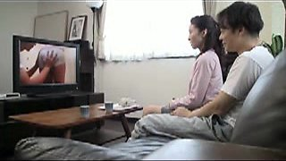 Japanese housewife to excited young man