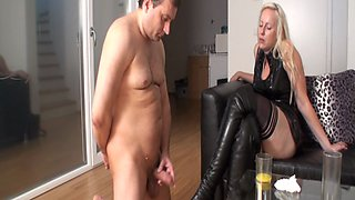 Femdom Ladies gives cum instructions