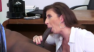 Sex with a busty teacher makes dean forget about her sluttiness