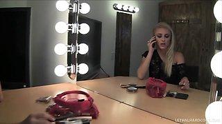 College pornstar Cameron Canada in bathroom for Gloryhole suck off - LethalHardcore