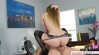 a tricky boss fucks gorgeous sydney cole in his office