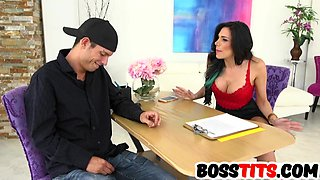 Sexy big tits boss Jaclyn Taylor gets fucked