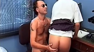 Retro video of a quickie in the office with sexy wife Naomi