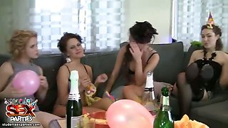 Bride eats pussy at her sex party