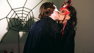 A masked chick is getting fucked and she is also licked well