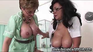 British fetish nurses get cumshot