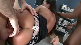 Super sexy brunette hair mother I'd like to fuck teacher copulates 3 large dongs