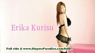 Erika Kurisu innocent naughty asian girl gets undressed
