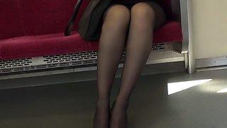 Best Japanese model Yui Oba in Hottest secretary, foot job JAV movie
