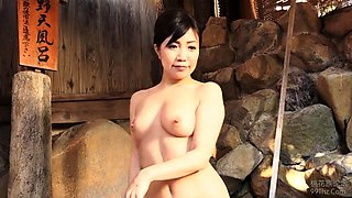 Busty Japanese lady gets her aching snatch licked and fucked