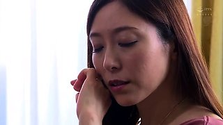Lonely Japanese wife cheating on her husband with his boss