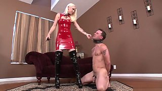 mistress play with his slave