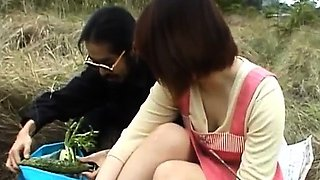 Himawari is fucked with vegetables and rides cock on the