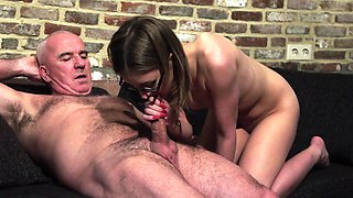 Old and Young Porn - Grandpa Fucks Teen Pussy fingers