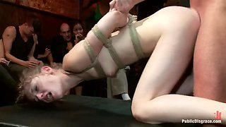 Fragile gymnast sensi pearl is fucked on bdsm party