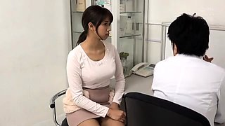 Sexy Asian teen gets her hairy cunt used by a horny doctor