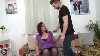 43yo mom marketa suck and fuck lucky son