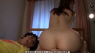 Japanese beauty fucked next to her sleeping husband