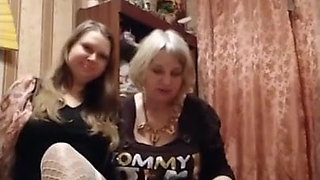 Real Mother and daughter – prostitute team from Russia