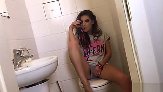 Getting freaky on a toilet