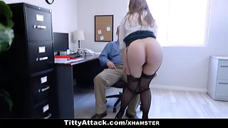 Teamskeet busty hottie lena paul gets fucked by her office