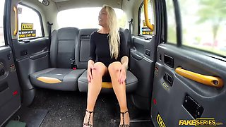 horny babe nova offers her hairy pussy to the cab driver