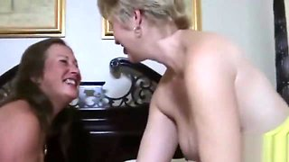 Two amateur bitches fucked in MMF porn