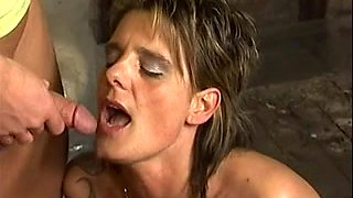 Amateur - Horny Pierced Mature with Younger Stud