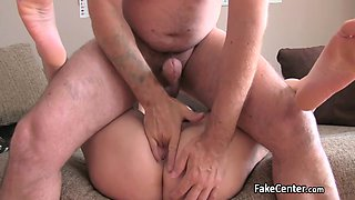 Fat pussy milf fucked good on interview