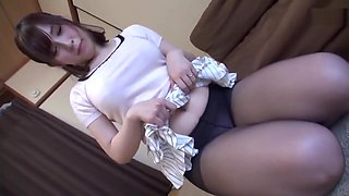 japanese pantyhose footjob 7